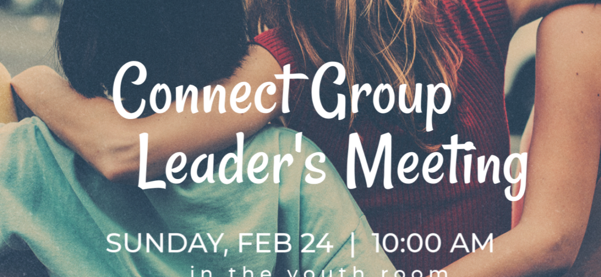 Connect Group Leader Meeting