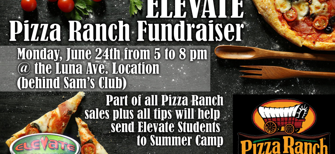 Pizza Ranch Fundraiser 2019