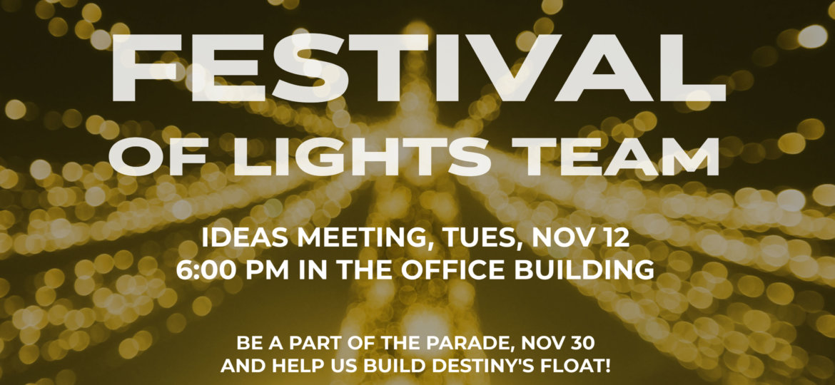 Parade of Lights MEETING