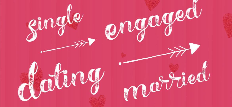 Single, Dating, Engaged, Married Cartoon